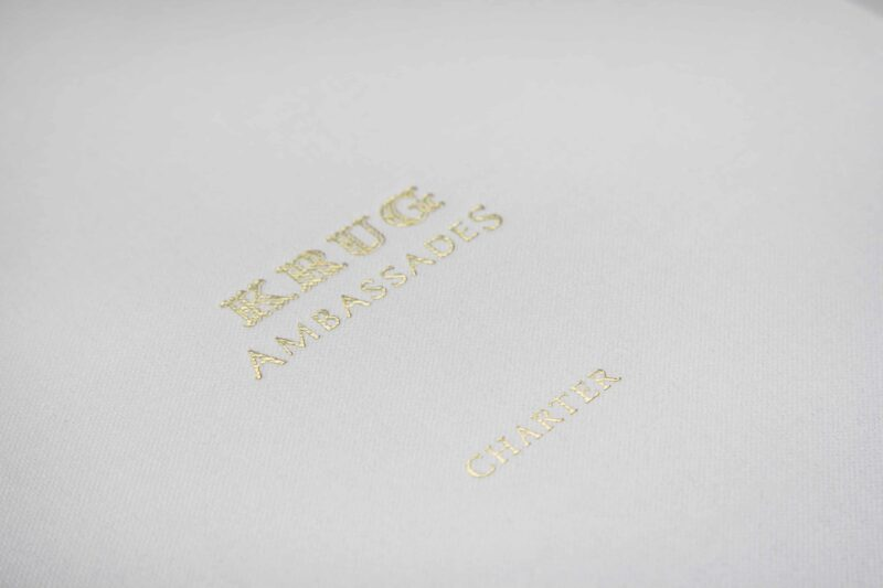 Pearl White With gold foil