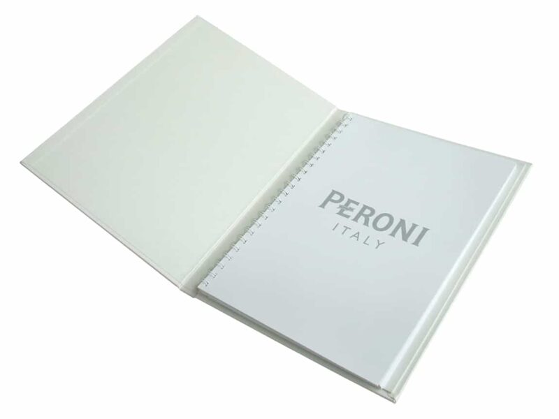 Metallic Presentation Binder, Pearl White