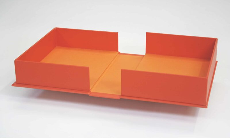Clamshell Box in Orange Cloth